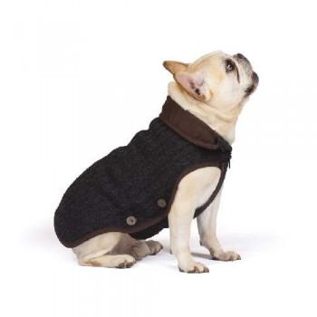 "Dog Gone Smart / Дог Гон Смарт Вязаная нано куртка Nano Knit Sweater, размер 24"", коричневый"