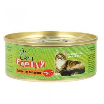 Clan / Клан Family консервы д/кошек паштет из телятины, 0,1 кг