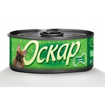 Оскар консервы для собак с языком ж/б 100г