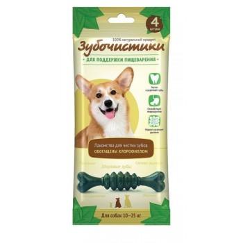 """ЗУБОЧИСТИКИ """"Мятные"""" лакомство с хлорофиллом для собак средних пород 10-25 кг 4шт 70г"""