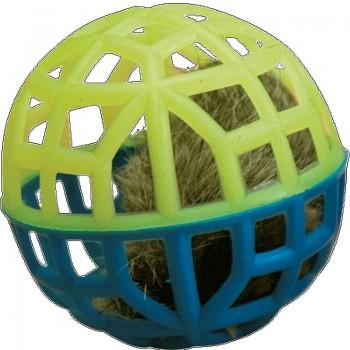 """Зооник 164141 Игрушка """"Погремушка"""" для кошки сетчатая с мехом и колок. (6шт)"""