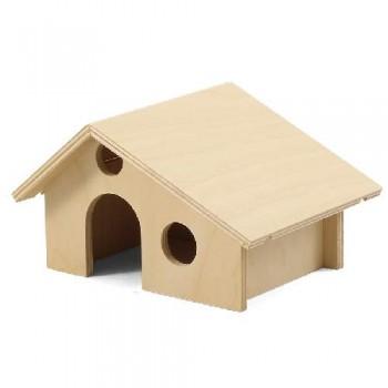 Gamma / Гамма Домик для мелких животных деревянный, 165*130*100мм