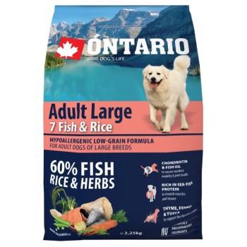 Ontario / Онтарио для собак крупных пород с 7 видами рыбы и рисом 2,25 кг