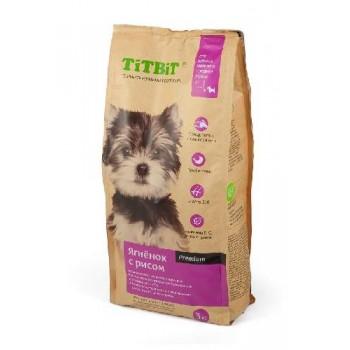 TitBit / ТитБит Корм сухой для щенков мелких и средних пород ягненок с рисом 3 кг