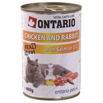 Ontario / Онтарио Консервы для кошек: курица и кролик 0,4 кг