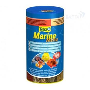 "TetraMarine / Тетра Menu корм ""4 вида"" для морских рыб 250 мл"
