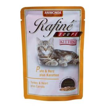 Animonda Rafine Soupe Kitten конс. 100 гр. Коктейль из мяса индейки, сердца и моркови для котят (пауч) 83650 (83390)