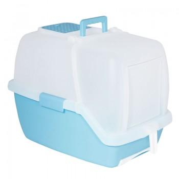 Триол / Triol Туалет P910 для кошек закрытый с выдвижным поддоном (совок и сетка в комплекте), 550*400*420мм