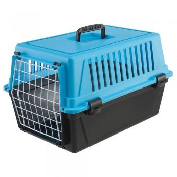 Ferplast / Ферпласт Переноска ATLAS 10 EL (без аксессуаров) для кошек и мелких собак, голубой
