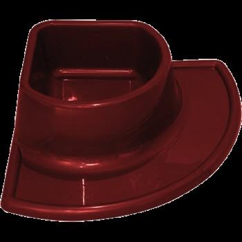 Зооник 15029 Миска пластмассовая угловая 0,5л. (Р)