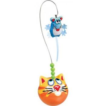Fat Cat Игрушка д/кошек - Неваляшка с мышкой, пластик,, CatFisher Fishing Bobber Cat Toy (610016)