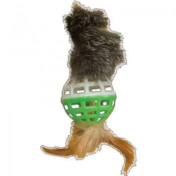 """Зооник 16447 Игрушка """"Погремушка""""для кошки малая с хвостом, 3.5см (10шт)"""