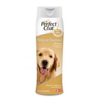 8in1 шампунь для собак PC Natural Oatmeal овсяный успокаивающий для кожи с ароматом ванили 473 мл
