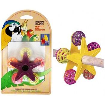 Penn-Plax / Пен-Плакс Игрушка для птиц Звездочка с погремушками (1х12) ВА532