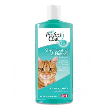 8in1 шампунь для кошек PC Shed Control & Hairball против линьки и колтунов с тропическим ароматом 295 мл