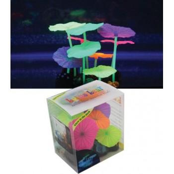 Jelly-Fish / Джелли-Фиш Листья лотоса разноцветные силиконовые (9 шт), 9*7*11 см