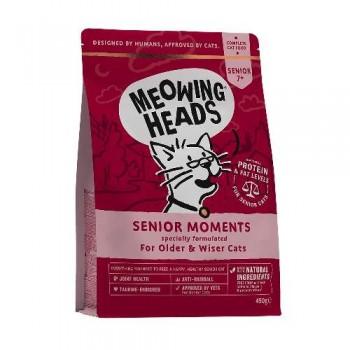 "Barking Heads / Баркинг Хедс Для Кошек старше 7 лет с лососем и яйцом ""Мудрые года"" (Senior Moments 450g), 450 гр"