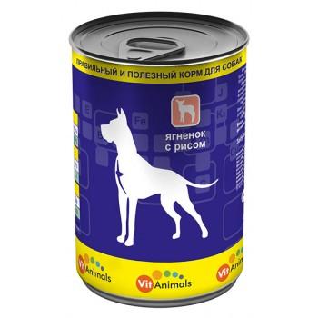 VitAnimals / ВитЭнималс консервы д/собак Ягненок с рисом 410 гр