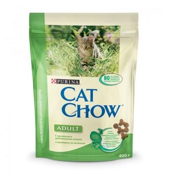 """Cat Chow / Кэт Чоу """"Adult"""" сухой 400 гр для кошек Крольчатина Печень"""