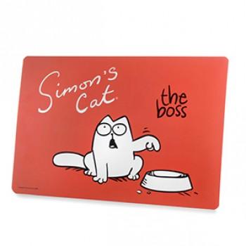 Karlie-Flamingo / Карли Фламинго Коврик для мисок Simons Cat 43см*28 см, красный