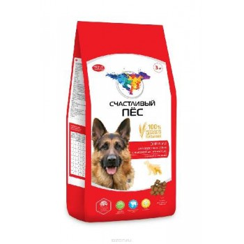 Счастливый пес сухой корм д/собак Энергия для взрослых собак с высокой актив.с курицей и говядиной 13,0 кг