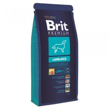 Brit / Брит Premium Lamb & Rice Гипоаллергенный корм для всех пород, 18 кг
