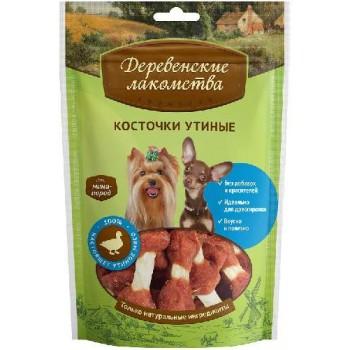 Деревенские лакомства для мини-пород Косточки утиные, 55 гр