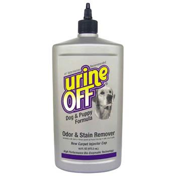 Urine OFF / Юрин Офф, Средство для уничтожения пятен и запахов от собак и щенков (с апликатором), UO Odor and Stain Remover, Dog & Puppy, IC, 473 ml