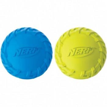 """Nerf / Нёрф Мяч резиновый пищащий, 6 см (серия """"Шина""""), набор (синий/зелёный)"""