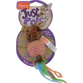 Hartz / Хартц Игрушка д/кошек - плетеная круглая Мышка JFC Rollabout Mouse cat toy