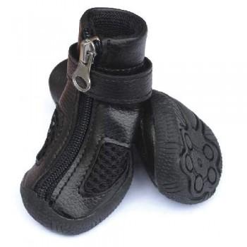 Triol / Триол YXS216-1 Ботинки для собак черные, 35x35x40мм