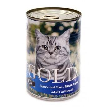 "Nero Gold / Неро Голд для кошек ""Лосось и тунец"" 0,41 кг"