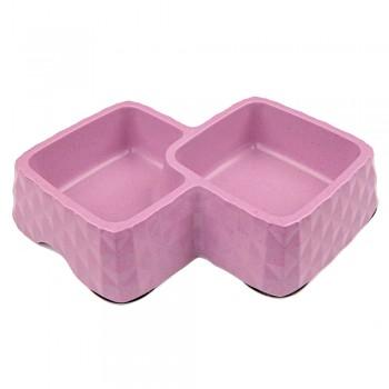 Bobo / Бобо Миска двойная, 29.9x18.9x5.5 см, 360+430 мл, фиолетовый