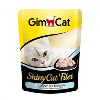 Gimcat / ГимКэт пауч Shiny Cat Filet тунец с крабом д/кошек, 70г