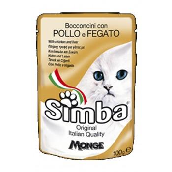 Simba / Симба Cat паучи для кошек курица с печенью 100 г