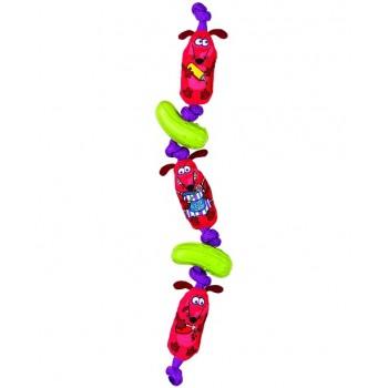 Fat Cat Игрушка д/собак - Связка сосисок, мягкая,, Weiner Links Dog Toy