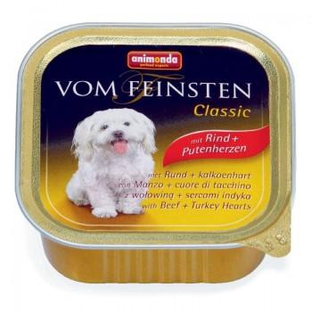 Animonda Vom Feinsten Classic конс. 150 гр. Сердце индейки / говядина для собак (ламистер) 82966 (82612)