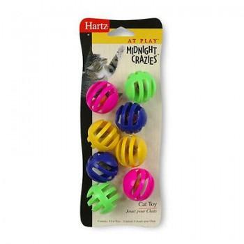 Hartz / Хартц Игрушка д/кошек - Семь шариков с колокольчиком, пластик Midnight Crazies Cat Toy