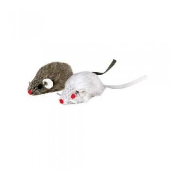 Trixie / Трикси 4067 Набор из 2-х мышей, серая\белая 5см