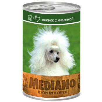 VITA PRO MEDIANO Консервы для собак кусочки в соусе ягненок/индейка 405г ж/б /24/ 72164363