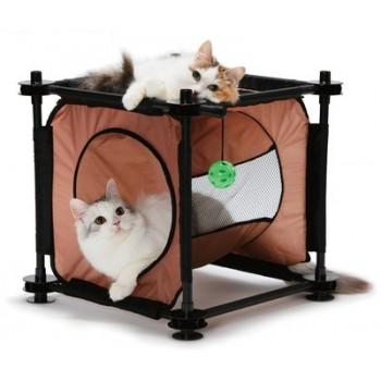 "Kitty City Когтеточка для кошек: Кошкин Дом ""Peek-a-Boo Passage"": 44*45*45см (sp0312)"
