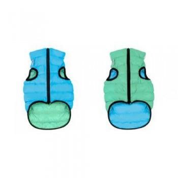 AiryVest / ЭйриВест курточка двухсторонняя Lumi, размер XS 22, салатово-голубая