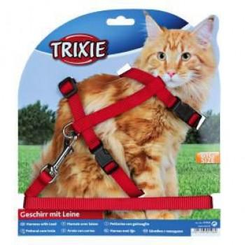 Trixie / Трикси Шлейка с поводком для крупных кошек 34-57см/13мм 41960