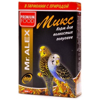 """Mr. Alex / Мр. Алекс Вasic корм для попугаев """"Микс"""" 500 гр"""