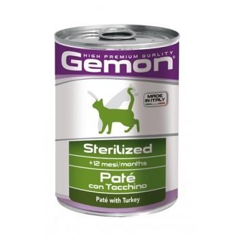 Gemon / Гемон Cat Sterilised консервы для стерилизованных кошек паштет индейка 400 г