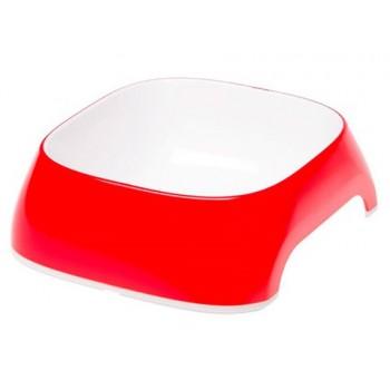 FERPLAST / ФЕРПЛАСТ Миска Glam MEDIUM пластиковая, красная, 0,75 литра 71214022