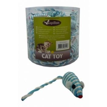 """Papillon / Папиллон Игрушка для кошек """"Полосатый мышонок"""", сизаль, 5см"""