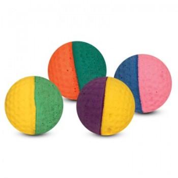 """Triol / Триол Игрушка для кошек """"Мяч для гольфа"""", разноцветный, d40мм (уп.4шт.)"""