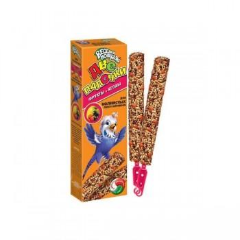 `Веселый попугай` палочки 2 шт. для волнистых попугаев фрукты (1х25) 721 (Зоомир)