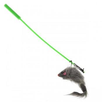V.I.Pet Игрушка для кошки Дразнилка удочка с игрушкой `Мышь` /12/ ST-108